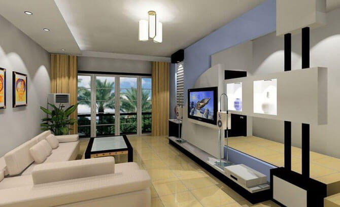 минимализм в гостиной фото