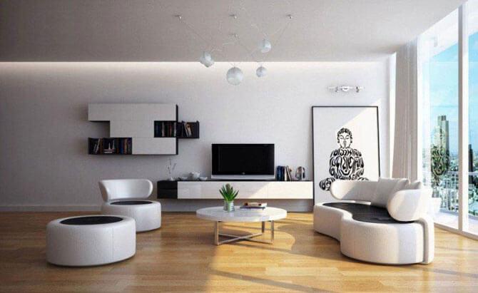 мебель для гостиной минимализм