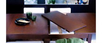 Раскладной обеденный стол на 4-8 человек