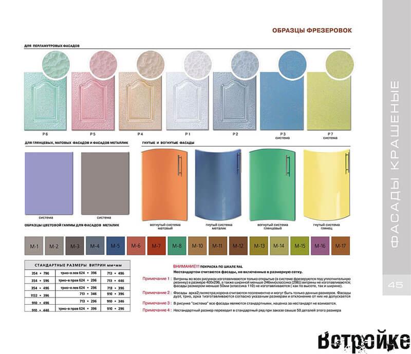 Цветовая палитра кухонных фасадов