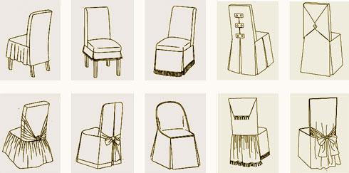 Чехлы на стулья своими руками