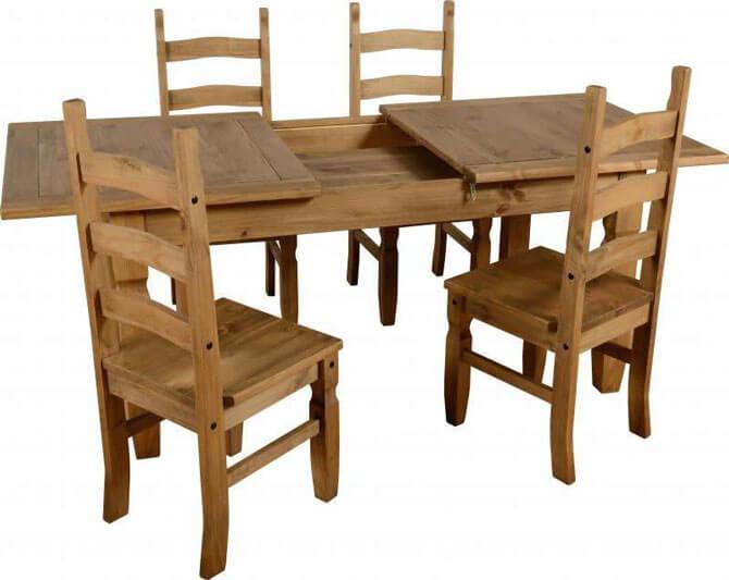 Стулья и стол из массива сосны