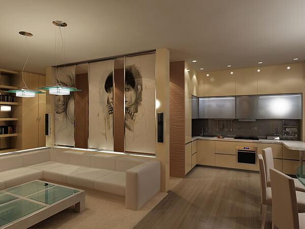 Кухня гостиная фото 4