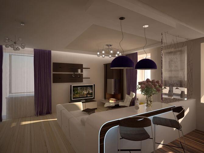 Дизайн кухни гостиной фото 3