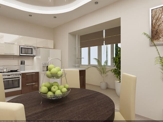 Дизайн кухни гостиной фото 1
