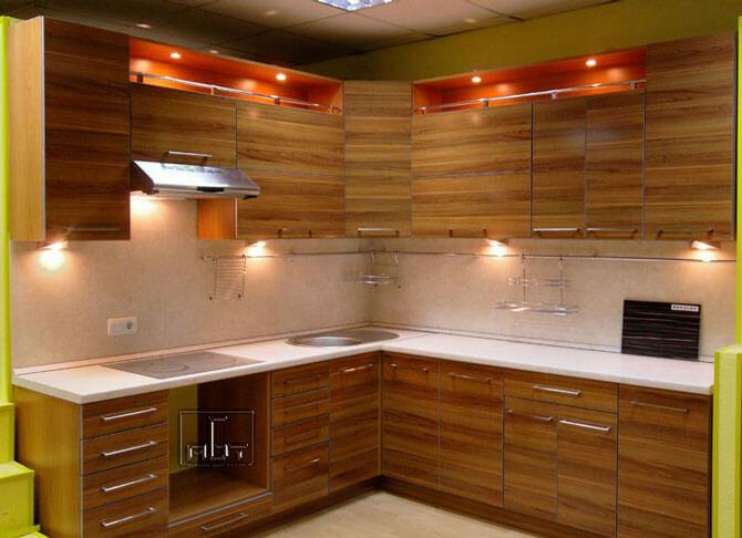 Дизайн кухни в стиле техно фото 1