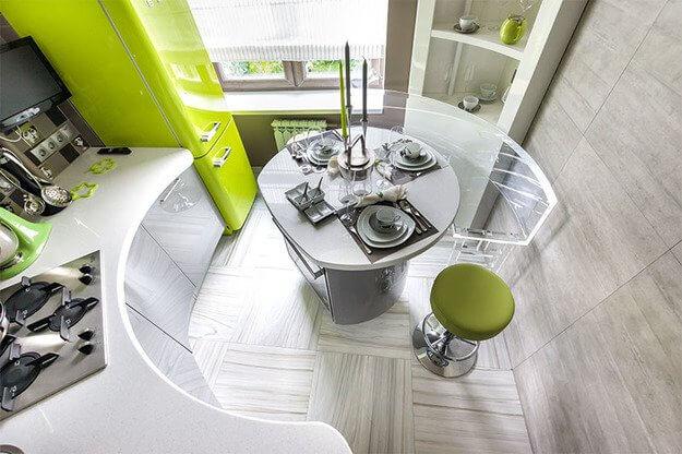 Дизайн маленькой кухни в стиле хай тек фото 1