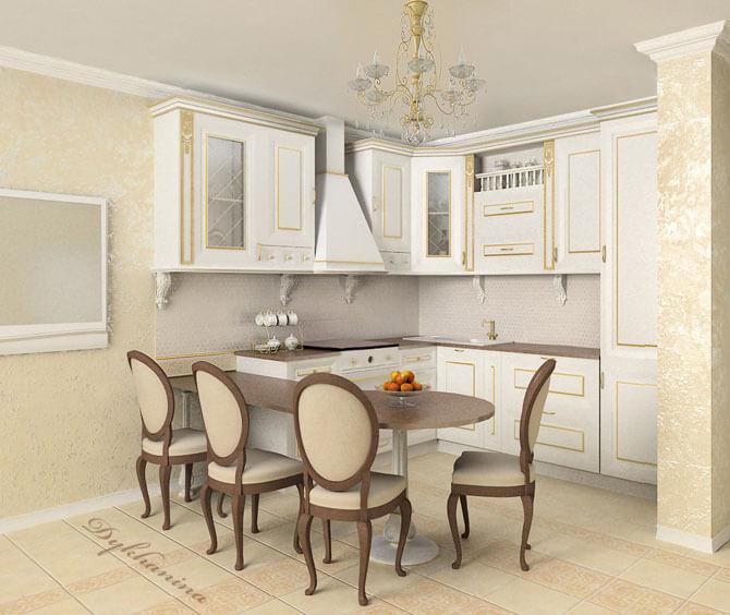Дизайн кухни в классическом стиле фото 2