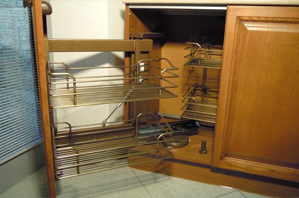 Выдвижные корзины для кухни фото 3