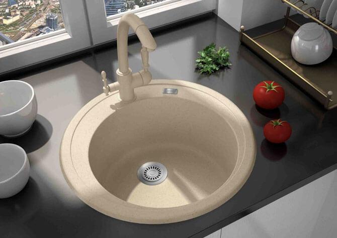 круглые мойки для кухни