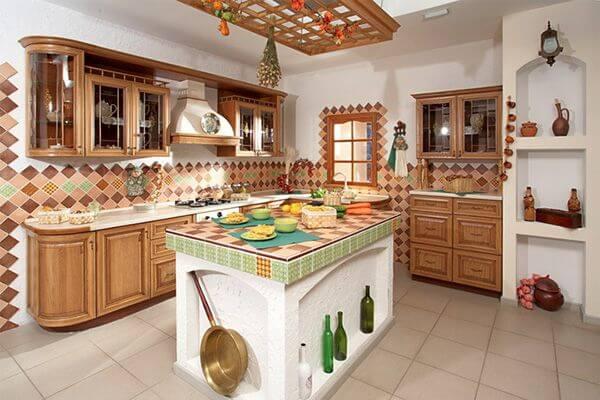 Кухня в стиле этно фото 2