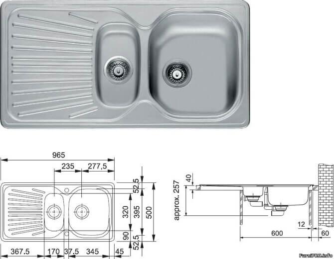 Накладные кухонные мойки из нержавейки