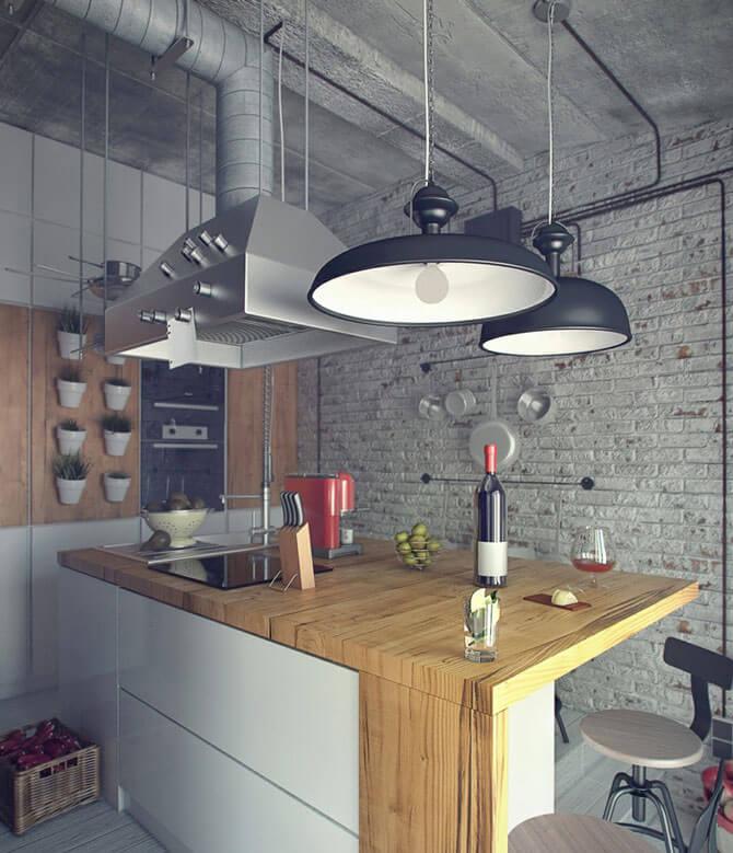 Урбанистический стиль в интерьере кухни