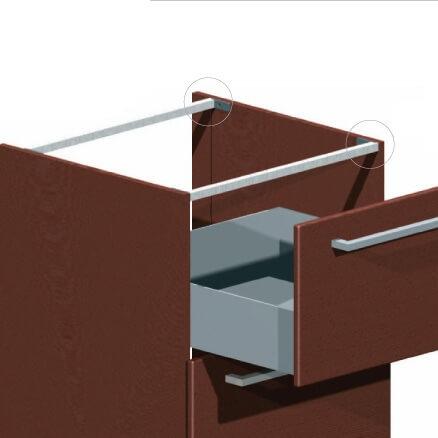 Профиль для соединения боковых стенок шкафа фото 1