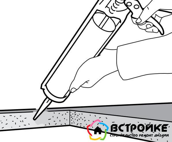 Обрезанные края обрабатываем герметиком