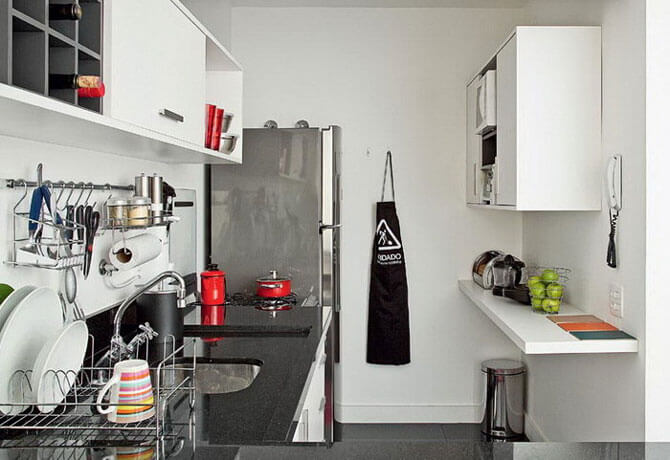 Дизайнерское решение для маленького кухонного пространства