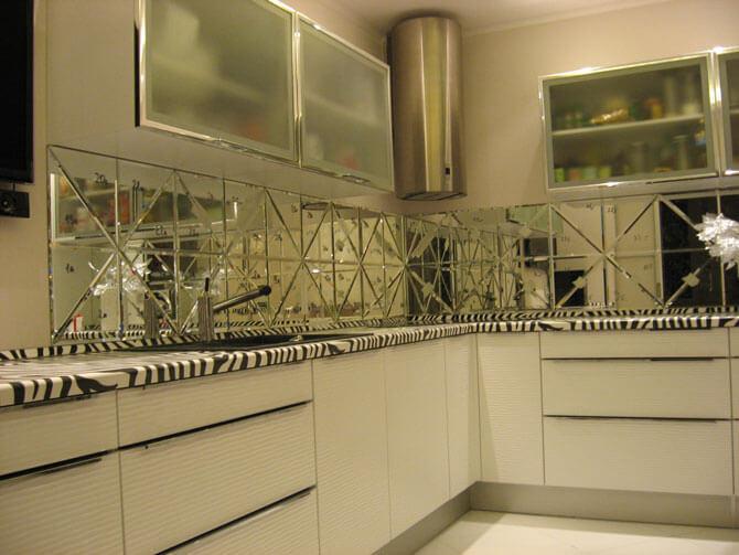 зеркальная плитка для фартука